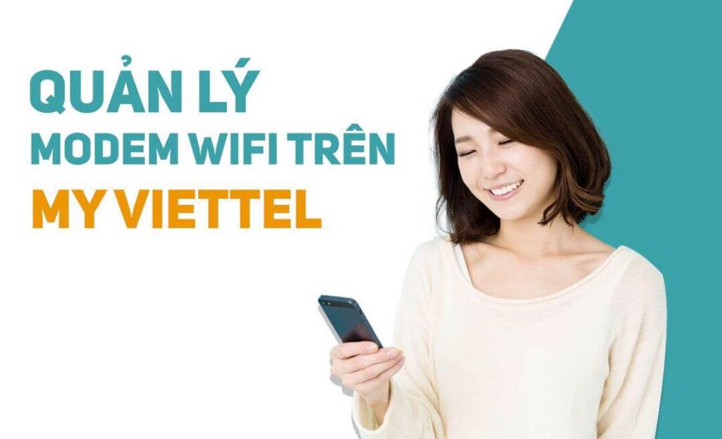 hướng dẫn quản lý modem wifi trên ứng dụng my viettel