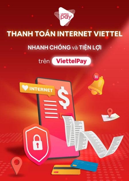 thanh toán internet viettel qua viettelpay nhanh chóng