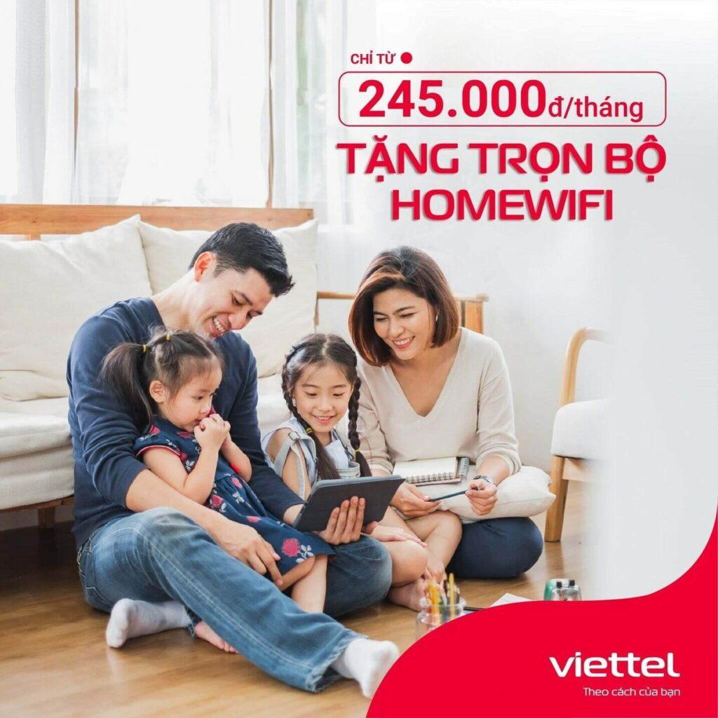 Gói cước home wifi VIettel cho gia đình